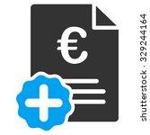 euro medical invoice vector... | Shutterstock .eps vector #329244164