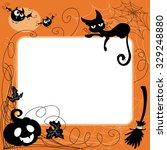 halloween invitation or... | Shutterstock . vector #329248880