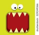 Vector  Green Monster Face