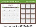 calendar planner for 2016 year. ...   Shutterstock .eps vector #329249690