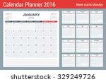 calendar planner for 2016 year. ... | Shutterstock .eps vector #329249726