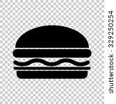 hamburger vector icon   black... | Shutterstock .eps vector #329250254