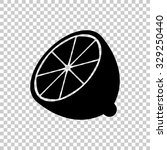 half of lemon vector icon  ... | Shutterstock .eps vector #329250440