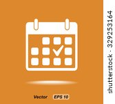 calendar sign icons  vector... | Shutterstock .eps vector #329253164