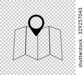 map vector icon   black...