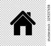 home vector icon   black... | Shutterstock .eps vector #329257658