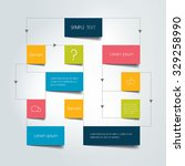 flow chart scheme. infographics ... | Shutterstock .eps vector #329258990