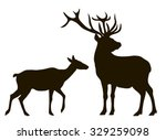vector drawing silhouettes... | Shutterstock .eps vector #329259098