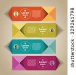 infographics elements. origami... | Shutterstock .eps vector #329261798