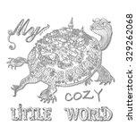 my cozy little world. vector... | Shutterstock .eps vector #329262068