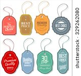 tag vintage label vector | Shutterstock .eps vector #329262080