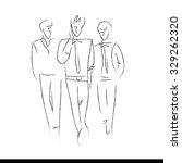 hand drawn design elements.... | Shutterstock . vector #329262320