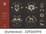 Set Of Vintage Logo And...