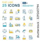 set vector line icons in flat... | Shutterstock .eps vector #329265794