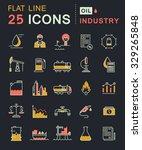 set vector line icons in flat... | Shutterstock .eps vector #329265848