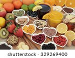 super food selection for cold... | Shutterstock . vector #329269400