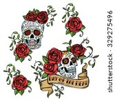 hand drawn day of dead mexican... | Shutterstock . vector #329275496