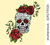 hand drawn day of dead mexican... | Shutterstock . vector #329275520