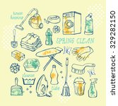 hand drawn vector set of... | Shutterstock .eps vector #329282150