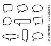 speech bubbles | Shutterstock .eps vector #329283968