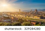 sunset view of florence  ponte... | Shutterstock . vector #329284280