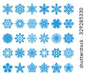 set of snowflakes | Shutterstock . vector #329285330