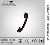 phone symbol  illustration eps... | Shutterstock .eps vector #329289896