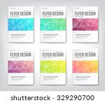 set of abstract modern cover ... | Shutterstock .eps vector #329290700
