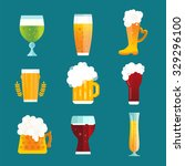 Beer Glass Vector Icons Label...