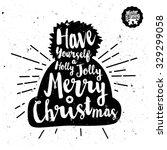 retro vintage minimal merry... | Shutterstock .eps vector #329299058
