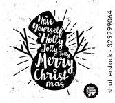 retro vintage minimal merry... | Shutterstock .eps vector #329299064