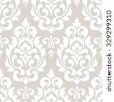 damask seamless pattern for... | Shutterstock .eps vector #329299310