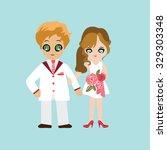 illustration of lovely sweet...   Shutterstock .eps vector #329303348