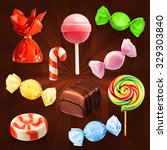 candy set  vector icons | Shutterstock .eps vector #329303840