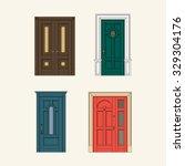 set of classic doors  | Shutterstock .eps vector #329304176