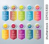 info graphic design template... | Shutterstock .eps vector #329315303
