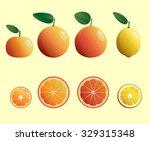 set of fruit. vector... | Shutterstock .eps vector #329315348