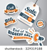 set of sale design elements | Shutterstock .eps vector #329319188