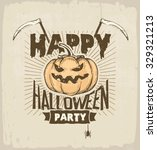 halloween party  banner with... | Shutterstock .eps vector #329321213