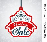 christmas sale design  vector... | Shutterstock .eps vector #329323640
