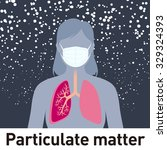 particulate matter and face... | Shutterstock .eps vector #329324393