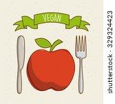 vegan food design  vector... | Shutterstock .eps vector #329324423