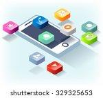 phone apps | Shutterstock .eps vector #329325653