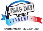 state flag day panama   banner... | Shutterstock .eps vector #329334200