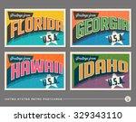 united states vintage... | Shutterstock .eps vector #329343110