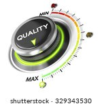quality switch knob positioned... | Shutterstock . vector #329343530