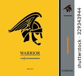 warrior. centurion and sword.... | Shutterstock .eps vector #329343944