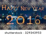 happy new year 2016 written... | Shutterstock . vector #329343953