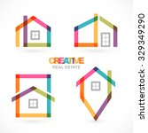 creative real estate icons set. | Shutterstock .eps vector #329349290