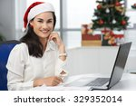 beautiful business woman in... | Shutterstock . vector #329352014
